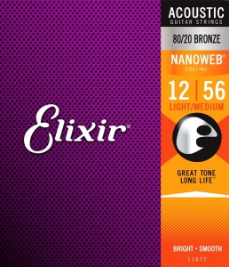 ELIXIR NANOWEB 80/20  BRONZE LIGHT-MEDIUM 12-56