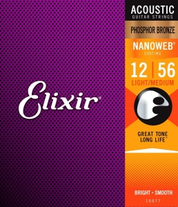 ELIXIR NANOWEB PHOSPHOR BRONZE LIGHT-MEDIUM 12-56